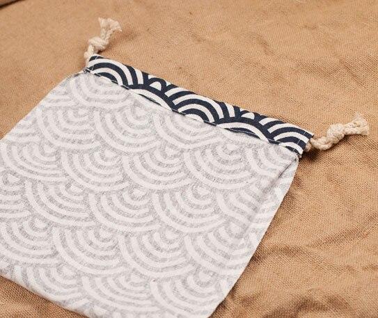 Giappone Biancheria Fan Regalo di Imballaggio del sacchetto 10x10 cm 10x12 cm 11x14 cm 14x17 centimetri pacchetto di 50 di Cerimonia Nuziale di Favore di Partito Sacchetto di Drawstring