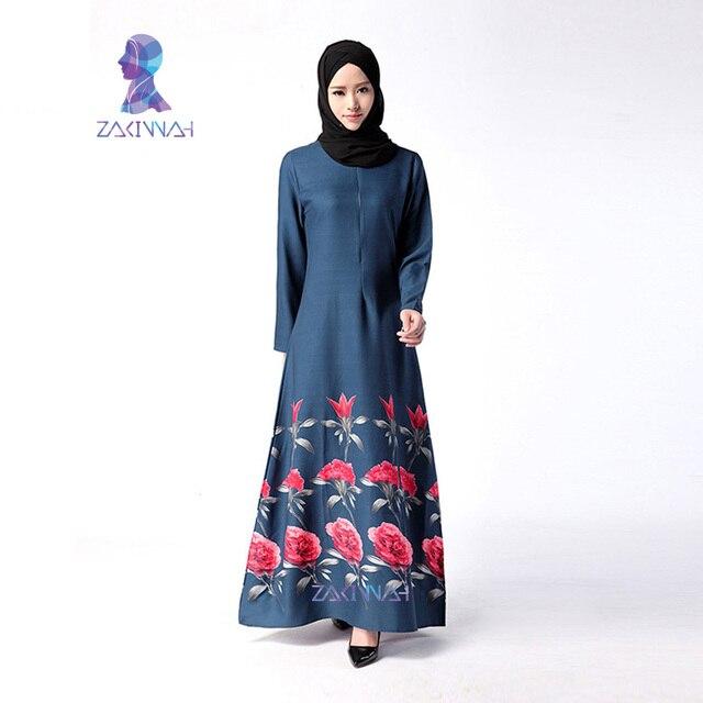 047 Последние Абая Дизайн 2016 Элегантный Винтажная Одежда Тонкий Abayas Для Женщин С Длинным Рукавом Мусульманское Платье