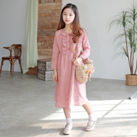 Brand New 2019 Girls Dress Ruched Kids Spring Dress Baby Princess Dress Children Cotton Floral Temperament Toddler Clothes,#3939