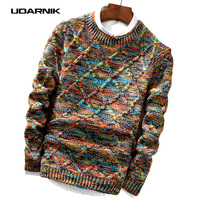 Mens Jumper Sweater Winter Thicken Chunky Cable Knitted Slim Fitted Pullover Knitwear Top 200 614