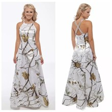 Vestido De boda De camuflaje personalizado 2019, barato, cola De barrido entrecruzado, Vestidos De novia bordados, Vestidos De boda hechos a medida