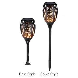 Image 2 - 4 חבילות שמש לפיד אור עמיד למים חיצוני גן מנורת חצר נוף ריקוד הבהוב להבה 96 נוריות אורות דקורטיביים