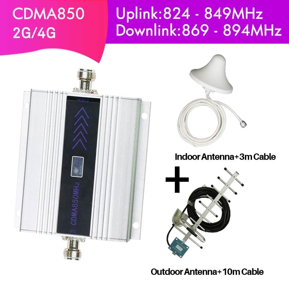Signal Repeater 2G 4G Mobile Phone Signal Booster CDMA 850MHz Cell Phone Signal Amplifier LCD Display 60dB Gain antenna KitSignal Repeater 2G 4G Mobile Phone Signal Booster CDMA 850MHz Cell Phone Signal Amplifier LCD Display 60dB Gain antenna Kit