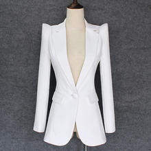 TOP QUALITY 2020 New Stylish Designer Blazer Womens Shrug Shoulder Single Button White Blazer Jacket