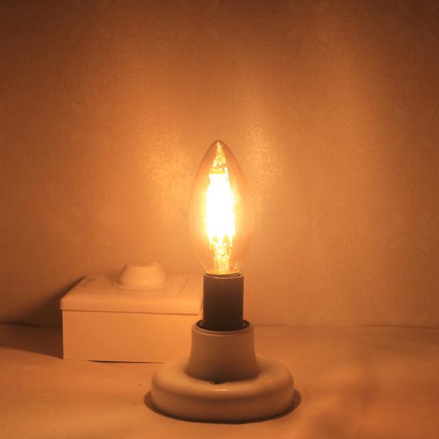 E14 COB LED Candle Lamp C35 B10 2w 4w 6w Flame Frosted LED Filament Bulb light 220v 230v AC Crystal chandelier light source