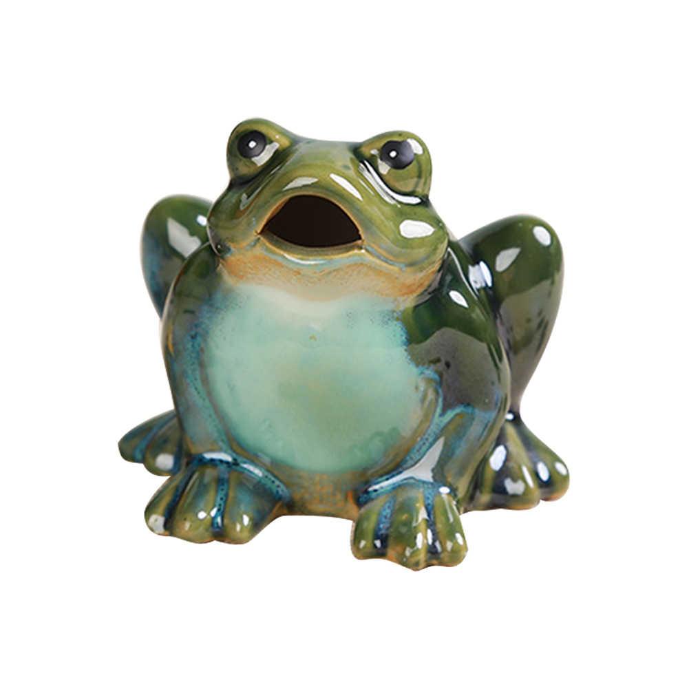 Ceramic Frog Garden Statue Lawn