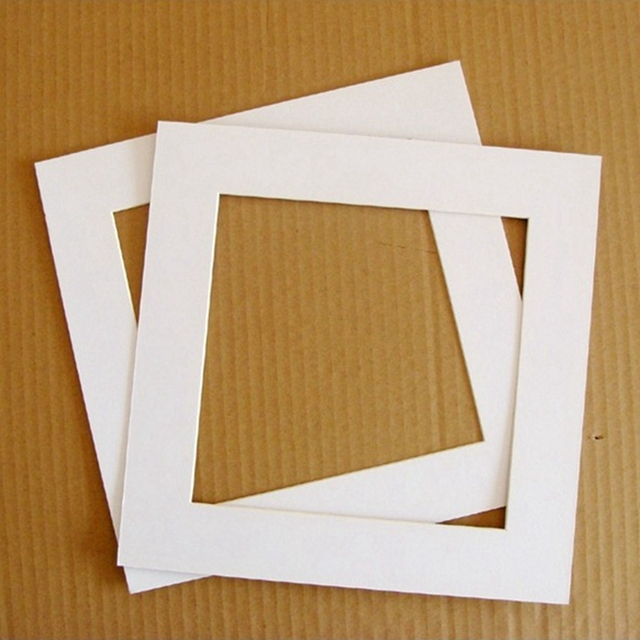 Premier High Quality Acid Free Pre Cut White Mat Matte Face Square