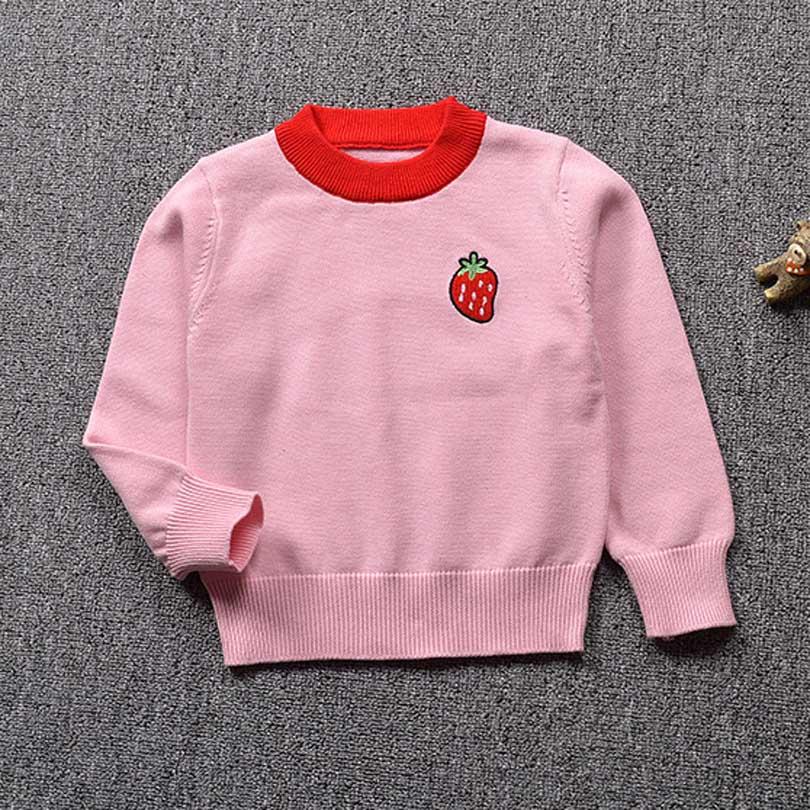 12 Mt-5 T Winter Herbst Pullover Kleinkind Jungen Mädchen Kinder Obst Pullover Stricken Pullover Tops Kinder Kleidung Erdbeere Ananas 100% Original