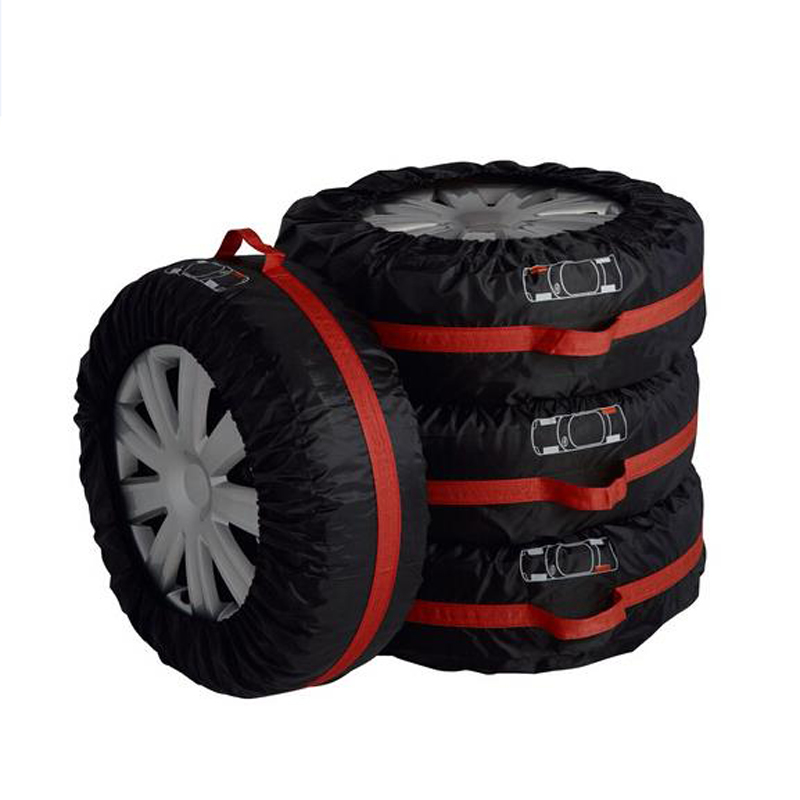 4Pcs Universal Car Spare Tire Cover For Sun Shade Dust Proof Polyester Tyre Protector Wheel font