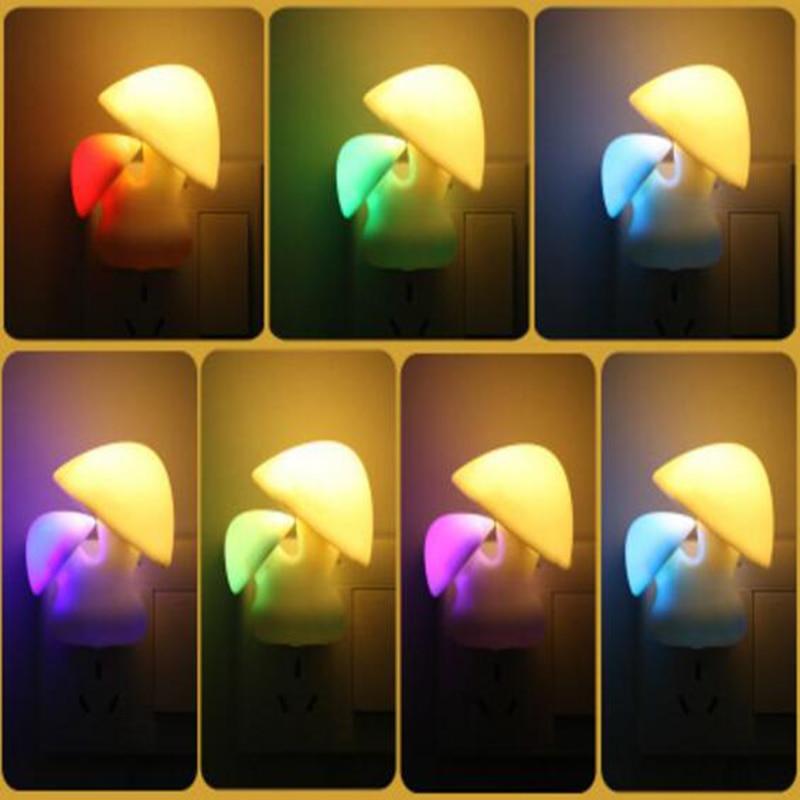 Tanbaby Mini Novelty Mushroom lamp night light for baby Cute indoor decoration warm white/multicolor light 25