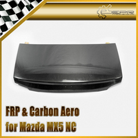 Car styling For Mazda MX5 NC NCEC Roster Miata Carbon Fiber OEM Trunk (Hard Top Only) Glossy Fibre Finish Rear Boot Lid Body Kit