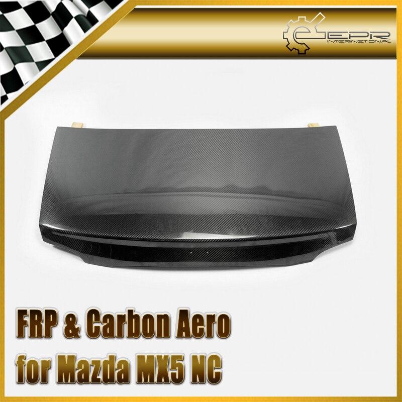 Style automobile pour Mazda MX5 NC NCEC Roster Miata coffre en Fiber de carbone OEM (haut rigide uniquement) Kit de carrosserie avec couvercle de coffre arrière en Fiber brillante