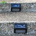 Solar Path 6 LED Lamp Step Lights IP55 Waterproof Wireless Led Solar Security Lighting Outdoor Garden Patio Porch Gutter Lantern