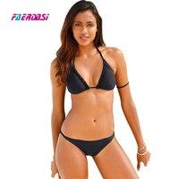 Faerdasi Handmade Crochet Bikini Women Swimsuit Swimwear Push Up Bikini Set Weave Bathing Suit Summer Beach