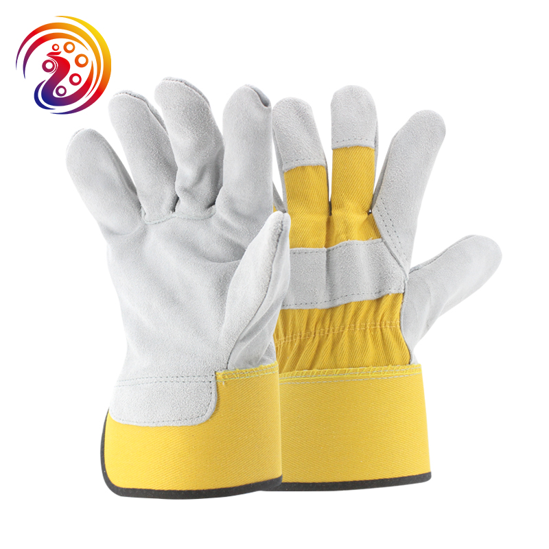 OLSON DEEPAK Cow Split Leather Transport Driving Carrying Factory Gardening Protective Work Gloves HY027 Free Shipping long yi and zhen shuang fu jade bracelet to help transport carrying 8000050 mascots