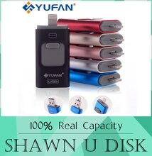Oferta especial unidad flash usb otg teléfono para el iphone 6/5 ipad rayo Pen drive 8g 16 gb 32 gb 64 gb iFlash Conductor + Micro usb