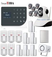 SmartYIBA WIFI Burglar Alarm System Android IOS APP Remote Control Home Security Intruder Alarm Video IP Camera Relay Output