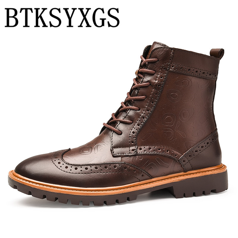 BTKSYXGS 2017 Men's boots 100% genuine leather Fashion Comfortable Thick Warm Martin boots Men winter shoes High quality / 38-47 набор бит bosch extra hard pz2 25 предметов
