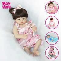 KAYDORA 22 インチ 55 センチメートルフルシリコンリボーンベビードール人形ベベ Boneca アライブ生まれ変わっ Menina 現実的なガール人形おもちゃを再生誕生日ギフト