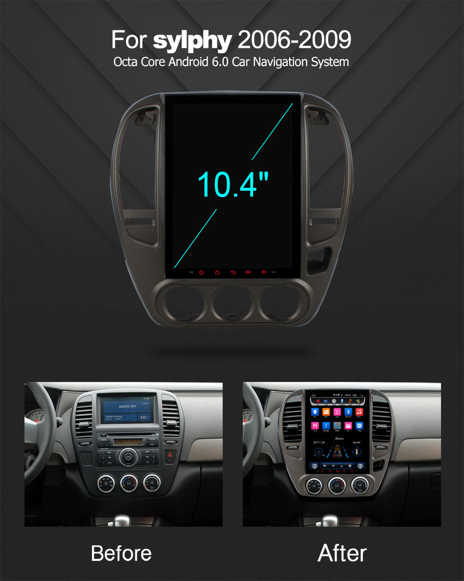 HD 10 4 inch Android 6 0 Car DVD Player For Nissan Sylphy 2006 2009 Octa 8 Core GPS Navigation Radio Stereo 4G WIFI in Car CD Player from Automobiles Motorcycles