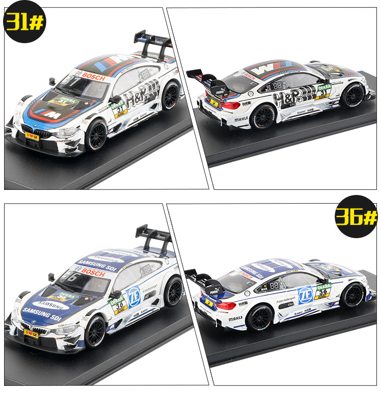 Купить с кэшбэком 1/43 Scale Diecast model Cars M4 DTM Racing Vehicles High Simulation Painting Toy Vehicles  Alloy Car Model For Kids [