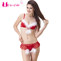 Mierside Christmas Set New Style Women Bra Set Sexy Lingerie Push up Bra set B/C/D Cup Style