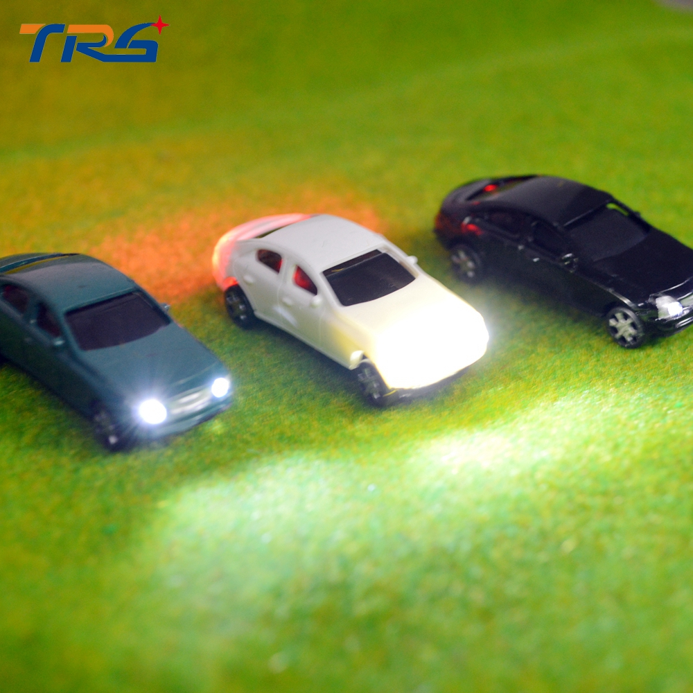 Teraysun 10pcs miniature model light car kits 1:75 resin plastic for sale