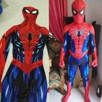 2018 New Spiderman Cosplay Costume Zentai Spider Man Superhero Pattern Bodysuit Suit Jumpsuits