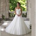 Свадебные платья Novia Бальное платье Из Бисера Органзы Свадебное Платье Для Беременных Женщин 2016 Дешевые Свадебные Платья свадебные платья