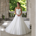 Vestidos De Novia vestido de Baile Frisada Organza Vestido De Noiva Para Mulheres Grávidas 2016 Baratos Vestidos de Noiva vestidos de noiva
