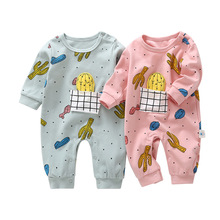 VTOM Autumn New  Baby Rompers Newborn Long-sleeved Jumpsuits Soft Cotton Clothes Infant Overalls For Boys And Girls