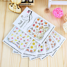 100Sheets Mixed 3D Nail Art Stickers Self Adhesive Embossed Rose Flower Decals Manicure