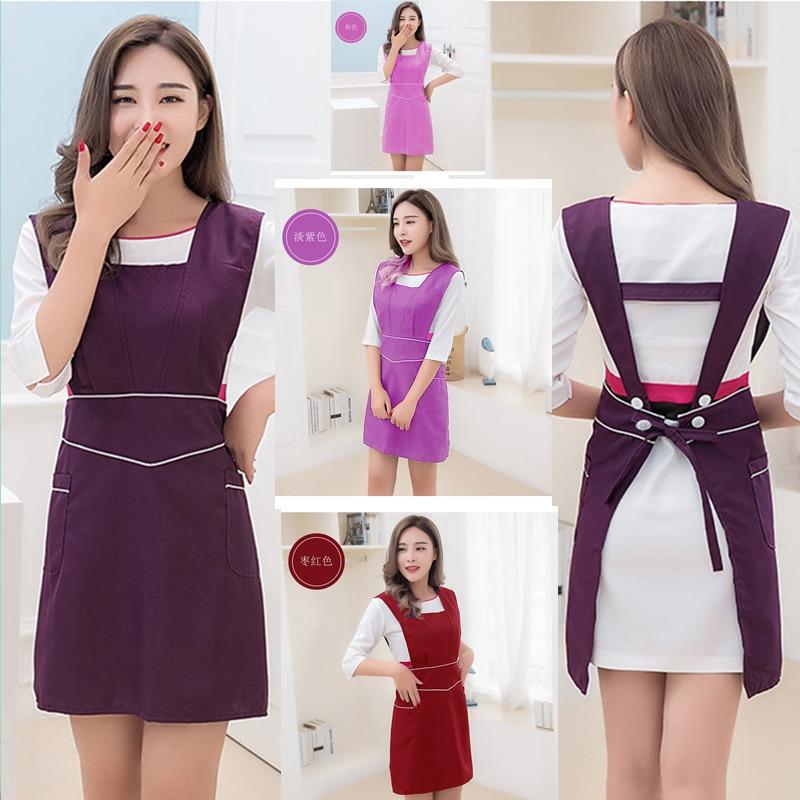 Cute Korean Fashion Beautician Apron Beauty Salon Workwear Nail Nursery Baby & Baby Shop