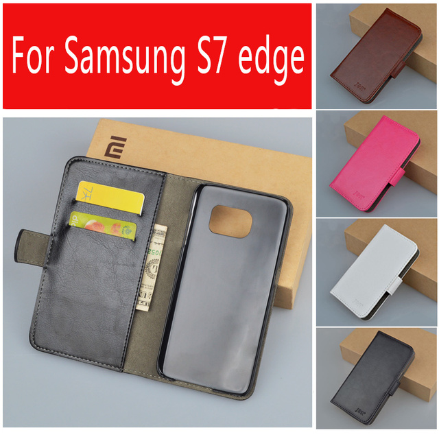 "Case for Galaxy S7 Edge Leather cover For Samsung Galaxy S7 Edge SM-G935A SM-G935F SM-G9350 5.5"" Mobile Phone Bag"