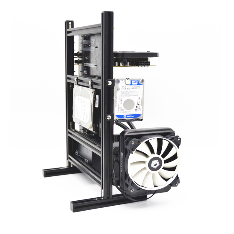 DIY Personality Water Cooler Aluminum PC Hollow Vertical Chassis Computer Desktop Mainframe ATX Game Host Box