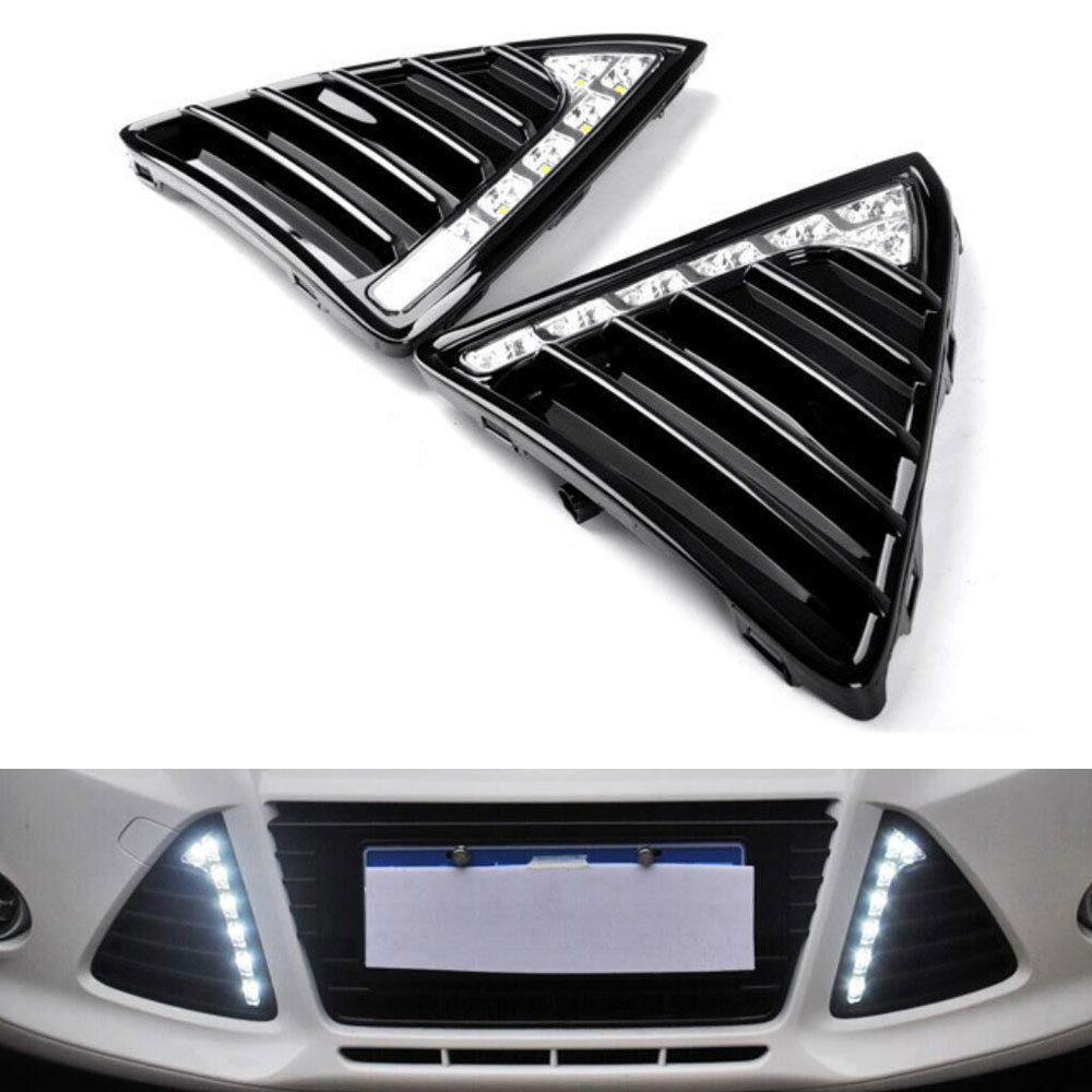Пригодный для Форд Фокус 2012 DRL вождения Противотуманные фары дневного света высокой мощности 6-LED подсветка