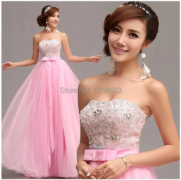 Custom Made Adult Party Dresses Cheap A-line Strapless Peach Pink  Sweetheart Sleeveless Floor-length Chiffon Bridesmaid Dresses 241127a74ea2