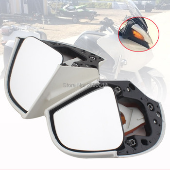 Fits For BMW Side Rear mirrors Rearview W/ Amber Lens R1100RT R1150RT R1100 RT R1150 RT White New image