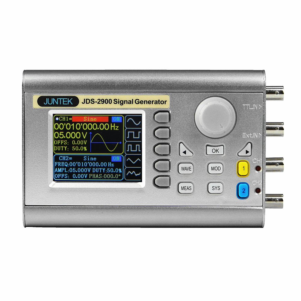 JDS2900 Signal Generator Function Generator Protable Digital Control Dual-Channel DDS Arbitrary Waveform Pulse Frequency Meter hot selling signal generator rigol dg1022u updated from dg1022 2 channel 25 mhz function waveform signal generator