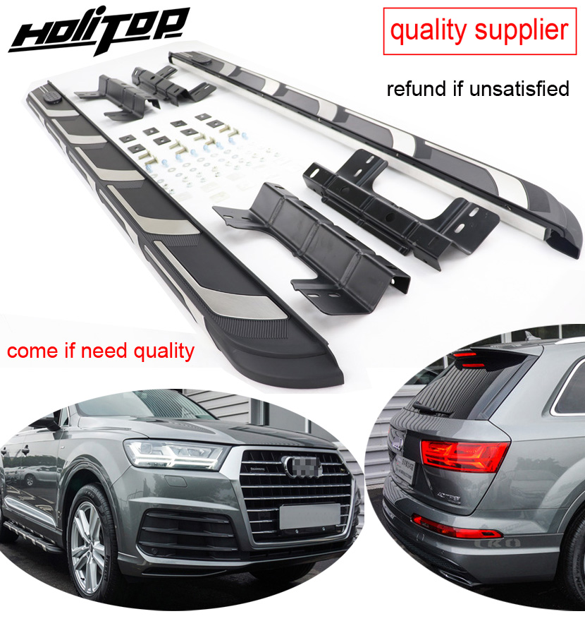 New Arrival running board nerf bar side step for AUDI Q7 2017 2018 2019 thicken winden