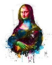 DIY Diamond Painting Colorful Mona Lisa Embroidery Full round  Cross Stitch Rhinestone Mosaic Home Decor Gift