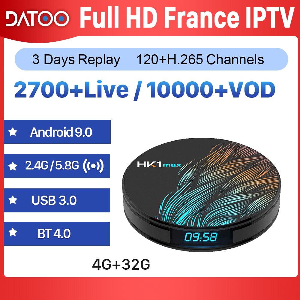 IPTV Frankrijk Arabisch Italië Spanje Portugal DATOO HK1 MAX Android 9.0 4G + 32G IP TV Frankrijk Arabisch franse Portugal Italië Frankrijk IPTV-in Set-top Boxes van Consumentenelektronica op title=