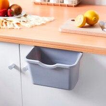 Кухонное мусорное ведро настольное Мини мусорное ведро домашний кухонный шкаф дверь подвесной мусорное ведро может мусорное ведро контейнер# BL1