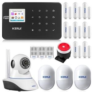 Image 1 - KERUI W18 WIFI GSM система охранной сигнализации автоматический циферблат 6 назначенный телефон приложение управление Настройка детектор движения датчик охранной сигнализации