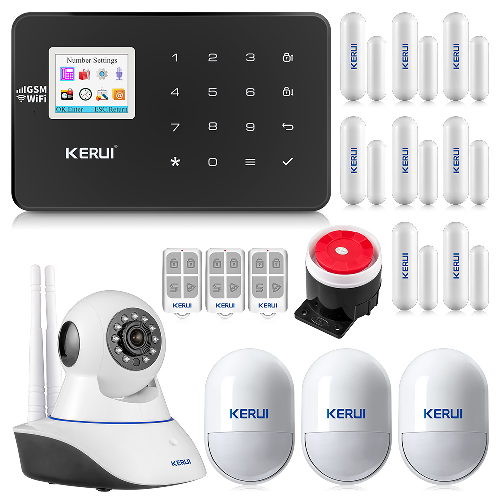 KERUI W18 WiFi GSM Wireless Alarm System Android IOS APP Control burglar alarm home AUTO Security Alarm Multiple language