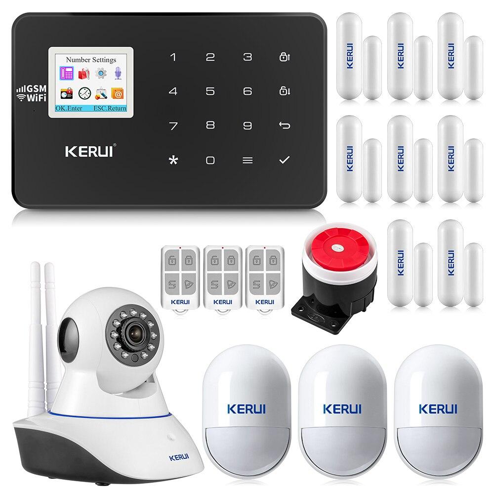 Système d'alarme sans fil KERUI W18 WiFi GSM Android IOS APP contrôle alarme antivol alarme de sécurité automatique à domicile plusieurs langues