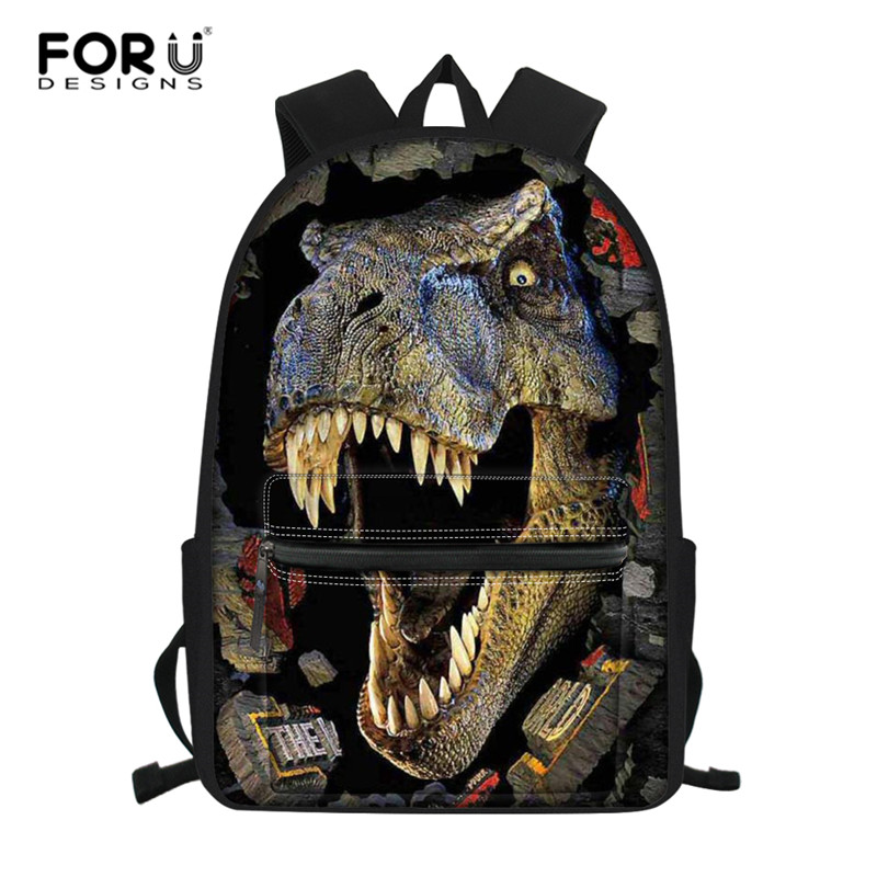 FORUDESIGNS Dinosaur Backpack For Boys Children Backpacks Kids SchoolBag Girls Animal School Bags Backpack Mochila Infantil