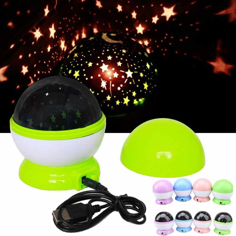 Rotation Star Sky Kid Luminous Light Lamp Night Projector Romantic Decoration JDH99