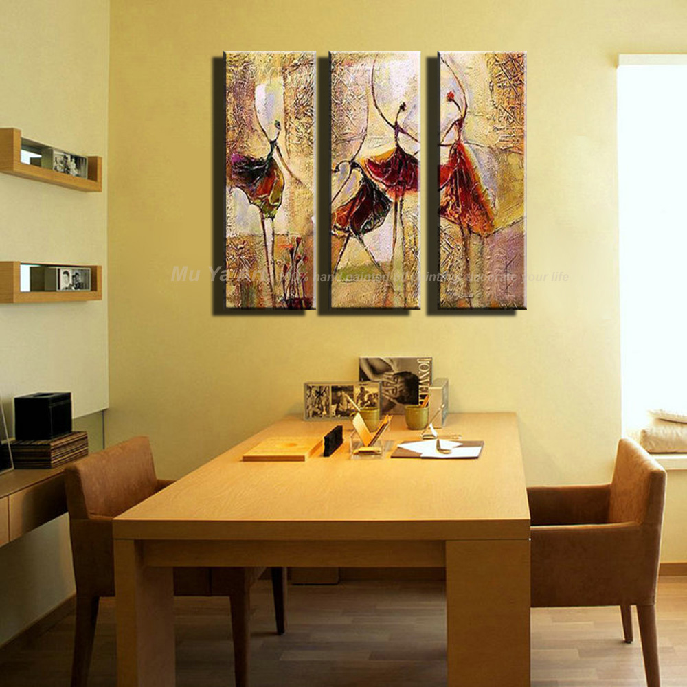 Modern Art Paintings For Living Room 3 Piece Wall Art Ballerina Art Paintings Ballet Dancers Modern