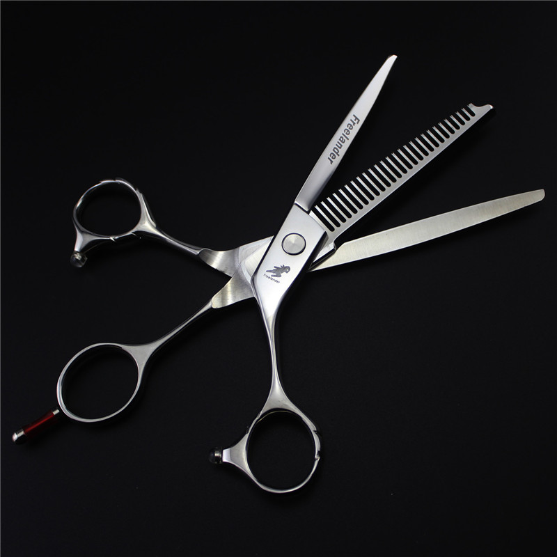 Freelander 6inch Cutting and Thinning Combined Into One Hair Scissors Dual Use Professional Hairdressing Scissors for Barber deli 8001 convenient and easy to use wood paper cutting machine manual cutting scissors office supplies53 41cm